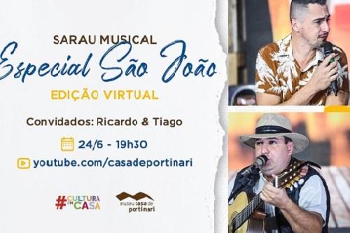 Casa de Portinari realiza o 1º Sarau Musical Especial de São João