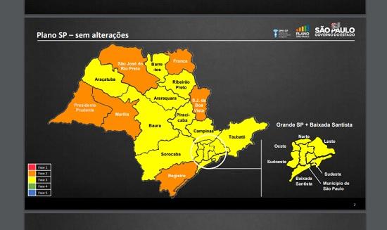 Plano SP segue sem mudança e Franca permanece na fase laranja