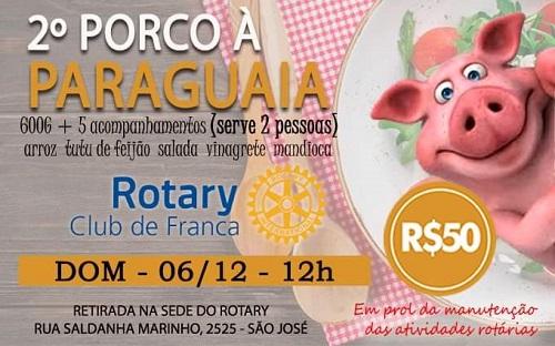 Rotary Club de Franca promove 2º Porco à Paraguaia