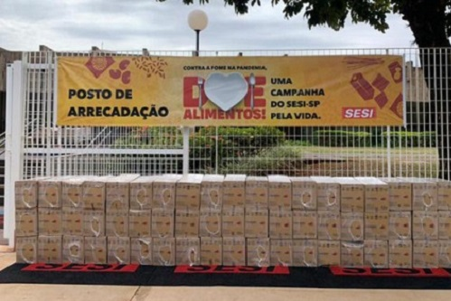 Sesi-SP já distribuiu 118 toneladas de alimentos não perecíveis