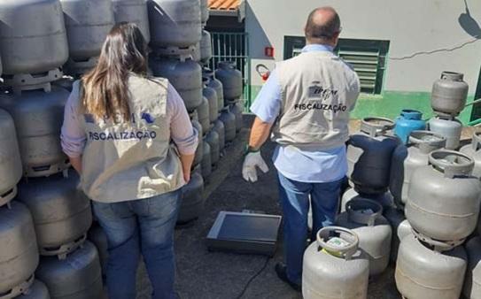 Franca é alvo de fiscalização do IPEM em depósitos de gás de cozinha