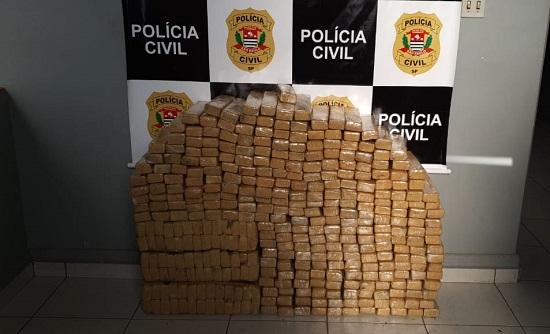 DISE apreende 400 kg de maconha e homem de 34 anos é preso em Franca