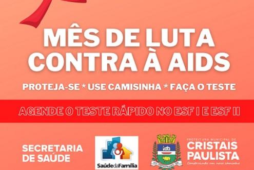 Campanha mobiliza testes rápidos de HIV em Cristais Paulista
