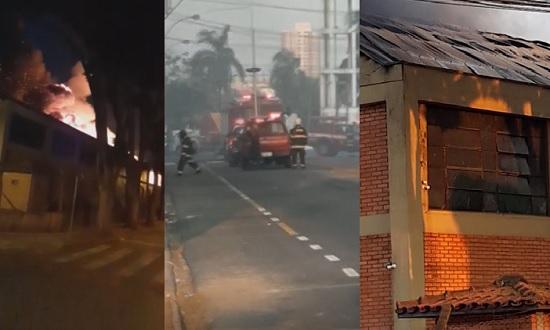 Depósito do Magazine Luiza é destruído em incêndio em Franca; Veja!