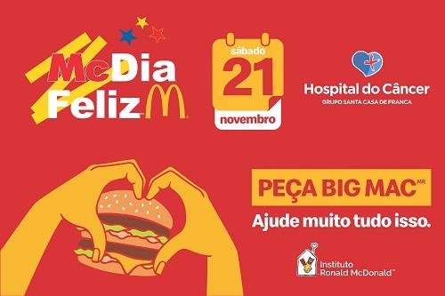 Hospital do Câncer de Franca participa do McDia Feliz 2020