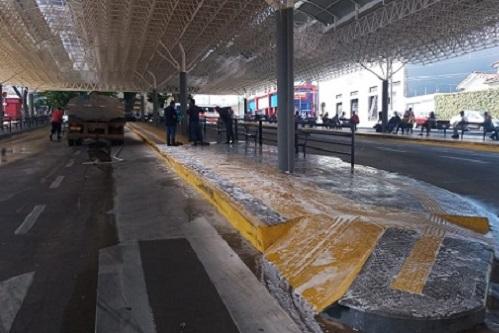 São José realiza nova higienização no Terminal Ayrton Senna