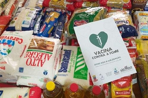 Campanha 'Vacina contra a Fome' arrecada 2,3 mil toneladas de alimentos