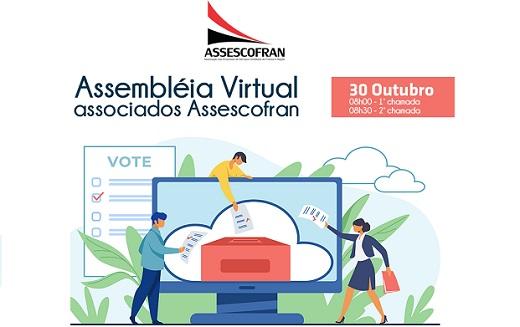 Assembleia online define diretoria da Assescofran para biênio 2021/2022