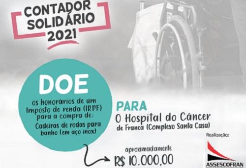 Assescofran quer arrecadar R$ 10 mil na campanha 'Contador Solidário'