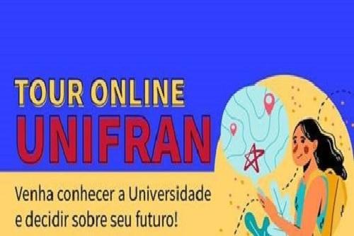 Unifran realiza o 1º Tour On-line e oferece bolsas de estudos