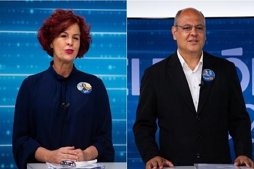 Flávia Lancha e Alexandre Ferreira participam de debate na TV